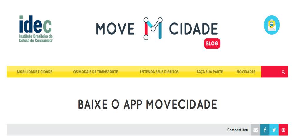 App do Idec avalia mobilidade em São Paulo